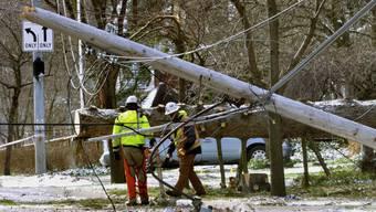 Stromleitungen verhinderten bei New York, dass ein abstürzendes Kleinflugzeug am Boden zerschellte. (Symbolbild)