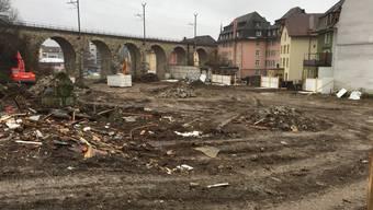 Bauplatz mitten in der Stadt zwischen Oelirain und Wiesenstrasse.