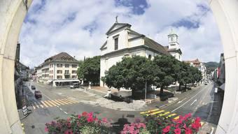Die Kirchgase kann zum «Kirchplatz» umgestaltet werden.