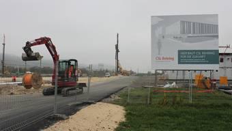 Bauplatz der CSL Behring in Lengnau.