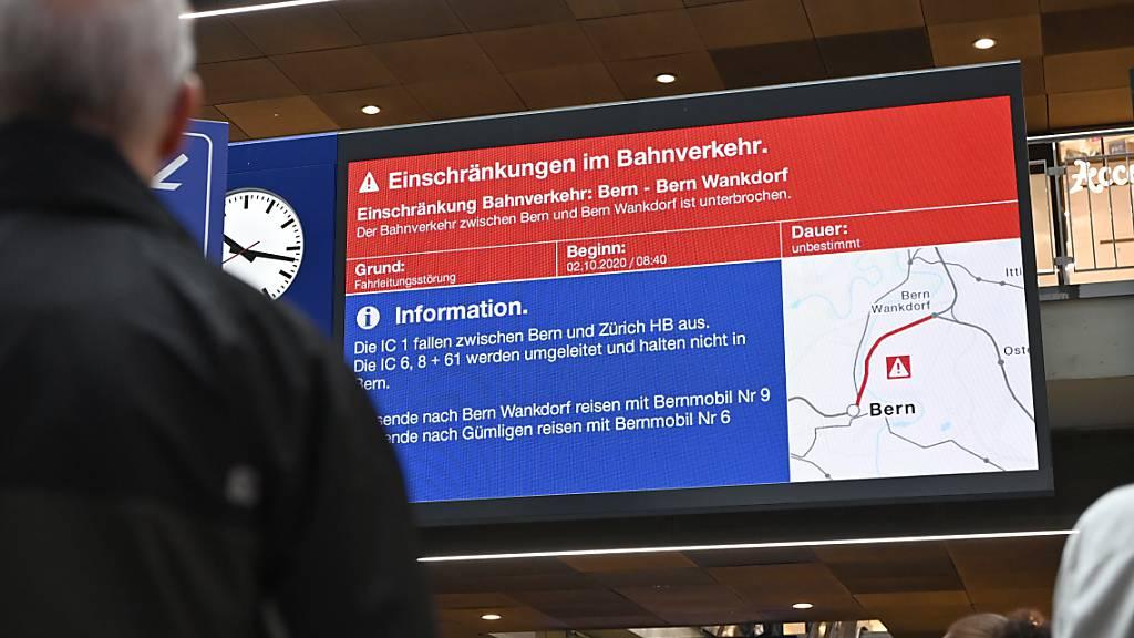 SBB will Reisende bei Störungen besser und schneller informieren
