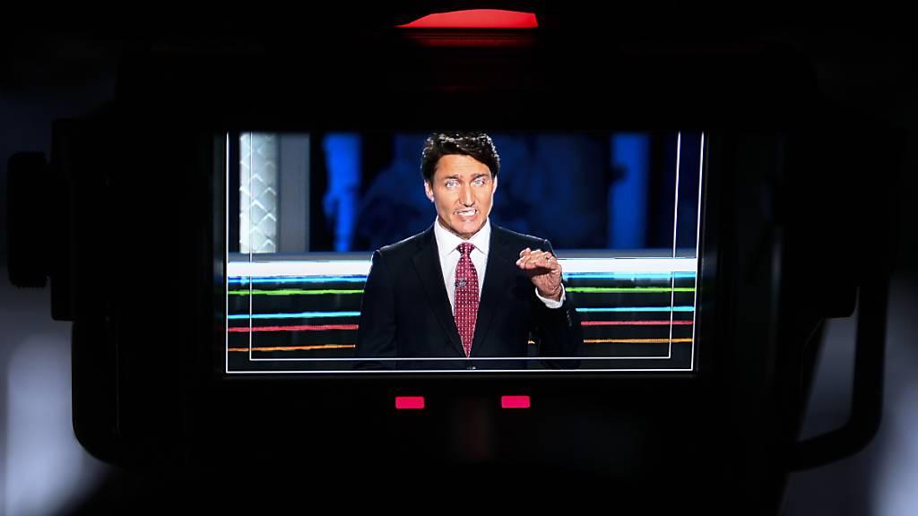 Justin Trudeau, Premierminister von Kanada, ist bei einer TV-Debatte kurz vor den vorgezogenen Parlamentswahlen unter Druck geraten. Foto: Justin Tang/The Canadian Press via ZUMA Press/dpa