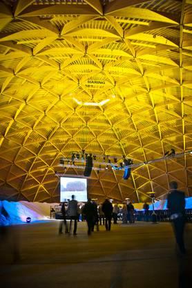 Imposanter Anblick von Innen: Die Kuppel ist 31,6 Meter hoch und hat Platz für 10000 Tonnen Salz.