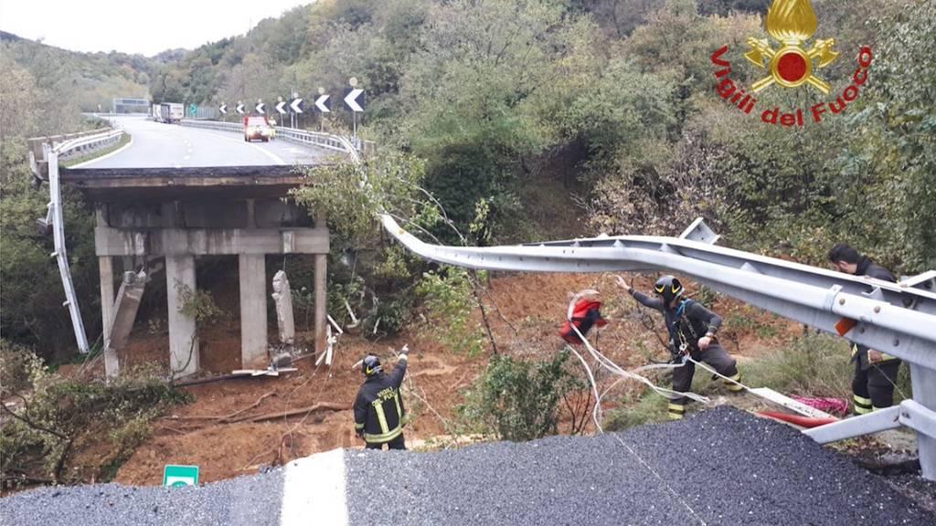 Autobahn in Italien eingestürzt
