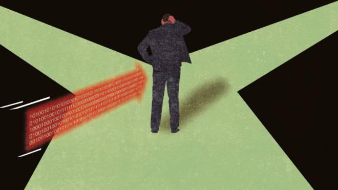 Subtil: Von Algorithmen wird ein Wähler sanft in die gewünschte Richtung gestossen. Illustration: Patric Sandri
