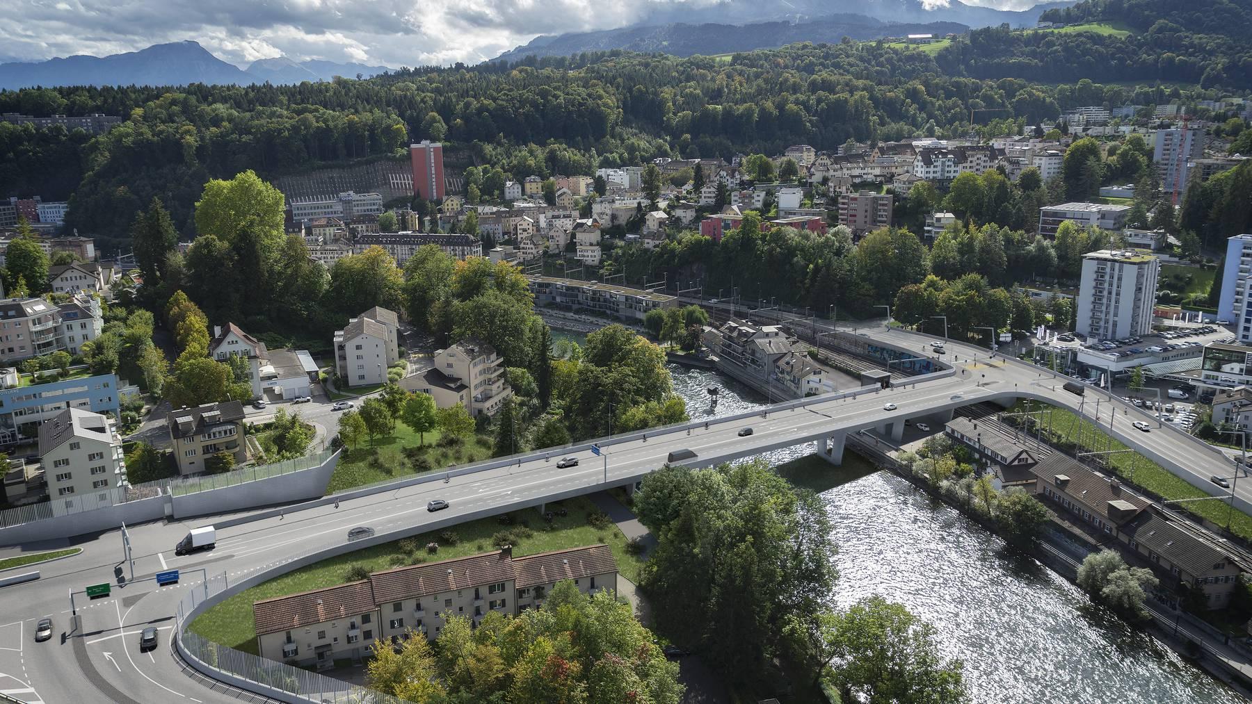 So soll sich die Brücke über die Reuss beim Lochhof dereins präsentieren.
