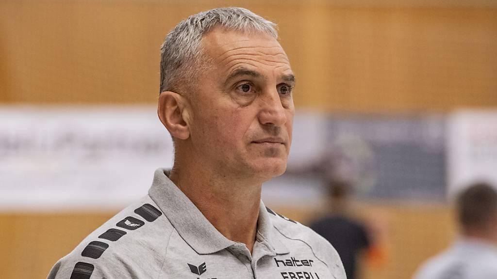 Trainer Goran Perkovac musste mit Kriens-Luzern erstmals in dieser Saison als Verlierer vom Platz
