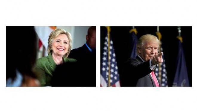 Foto links: Demokratin Hillary Clinton: Viele sehen in ihr ein Übel – aber ein kleineres. Foto rechts: Republikaner Donald Trump: Keine Chance in San Francisco. Fotos: Keystone
