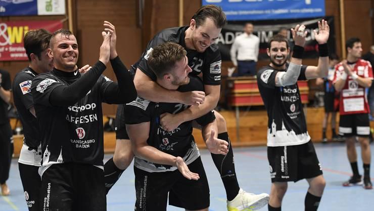 Die Siegesserie des STV Baden gegen CS Chênois Genève hält an.