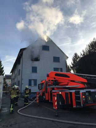Am Mittwochmorgen brach in einem Haus in Pratteln ein Feuer aus.
