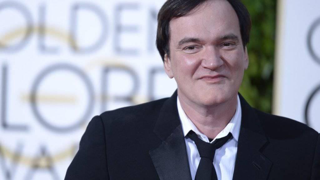 Quentin Tarantino - hier am Sonntag bei den Golden Globes - will in zehn Jahren mit dem Filmen aufhören (Archiv).