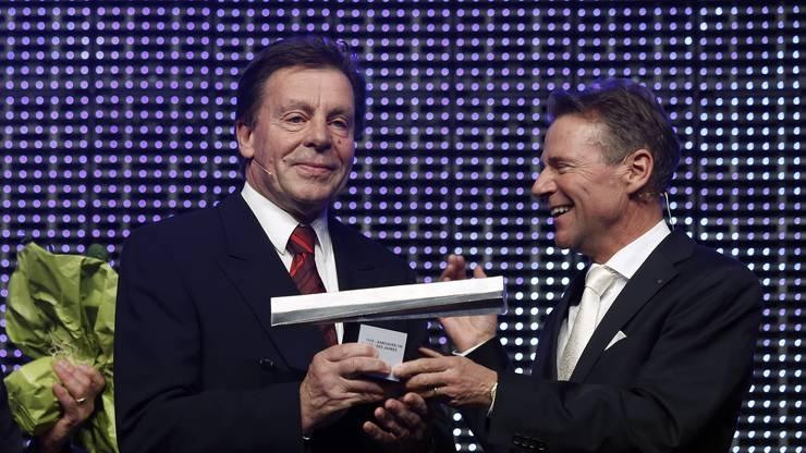 Aargauer des Jahres, Hans-Peter Lang und NAB-CEO Peter Bühlmann.