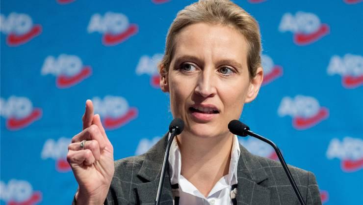 Wahlkampfspende via Zürichberg: Alice Weidel. DPA/Keystone