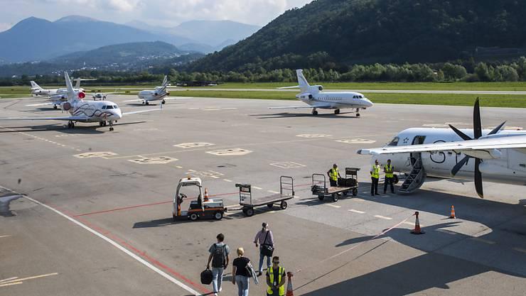 Am Montagabend befasste sich der Luganeser Gemeinderat mit der Zukunft des Flughafens Lugano-Agno. (Archivbild)