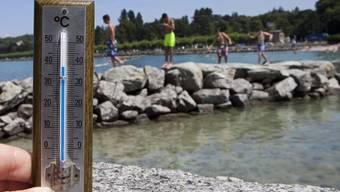 Auch am Genfersee kletterte das Thermometer hoch