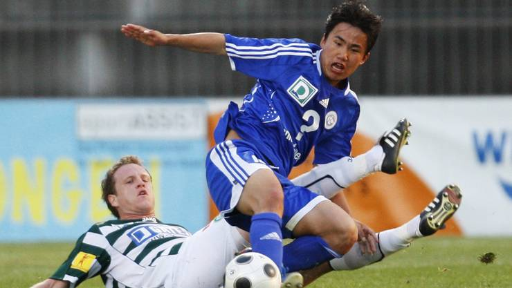 Vor zehn Jahren kämpfte Congeli mit Kim Kuk Jin noch in der Challenge League, unter anderem gegen St. Gallen.
