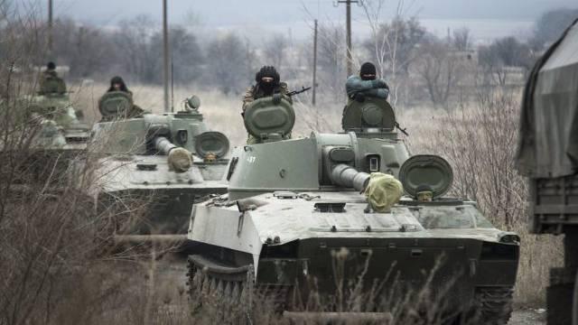 Pro-russische Rebellen im Gebiet Donezk