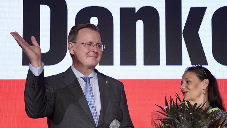 Historischer Sieg für Bodo Ramelow in Thüringen - die Linke kommt bei der Landtagswahl am Sonntag auf 31,0 Prozent der Stimmen.