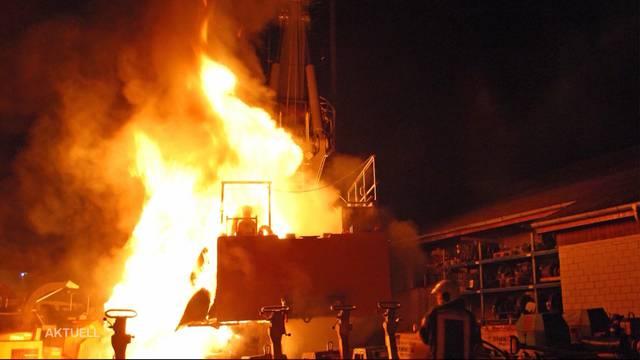 1,2 Millionen teure Baumaschine abgebrannt