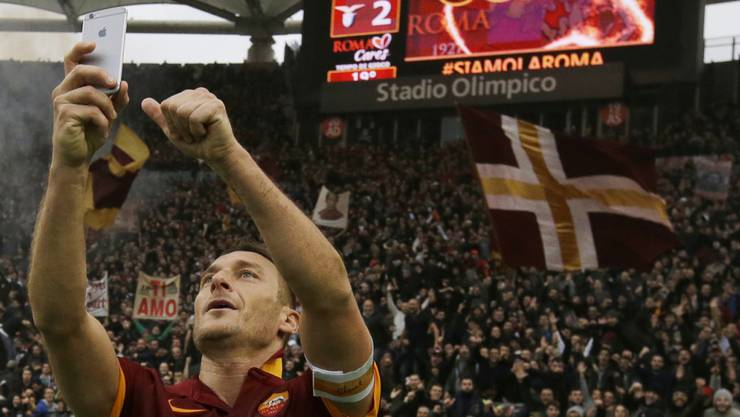 Francesco Totti ist die Identifikationsfigur der AS Roma