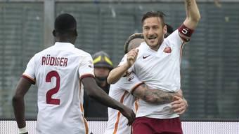 Francesco Totti rettet der AS Roma kurz vor Schluss einen Punkt in Bergamo