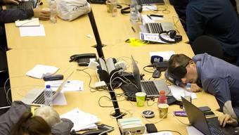 Nicht nur für die Staats- und Regierungschefs, auch für die Journalisten wars eine lange Nacht.
