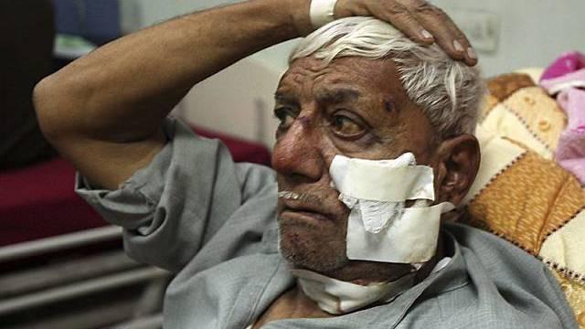 Ein Verletzter in einem Spital in Sadr City