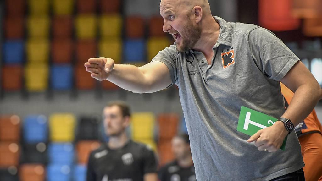 Mit seiner Truppe hervorragend unterwegs: Kadetten-Coach Adalsteinn Eyjolfsson