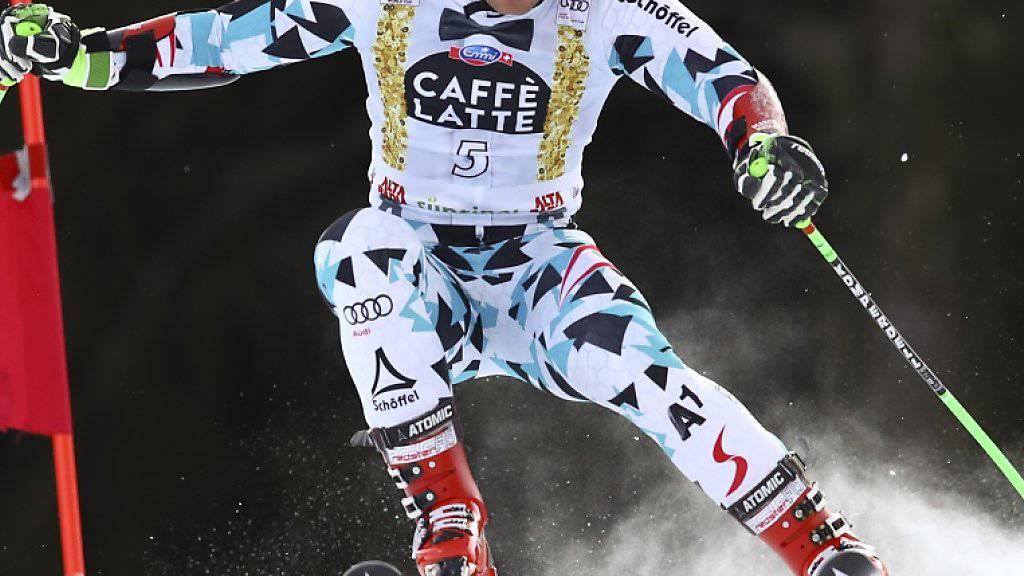 Marcel Hirscher gewann in Alta Badia zum vierten Mal in Folge