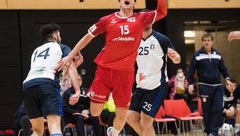 Nicolas Raemy zeigte im ersten von zwei Länderspielen gegen Italien eine starke Leistung