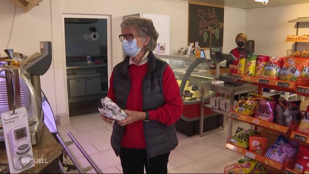 Dorfladen bietet Einkaufen ohne Angst vor Ansteckung an. Ein Bericht von TeleM1.