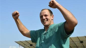 Bald wieder Grund zum Jubeln? Bruno Gisler ist nach dem Sieg am «Innerschweizerischen» der Top-Favorit am Weissenstein-Schwinget.