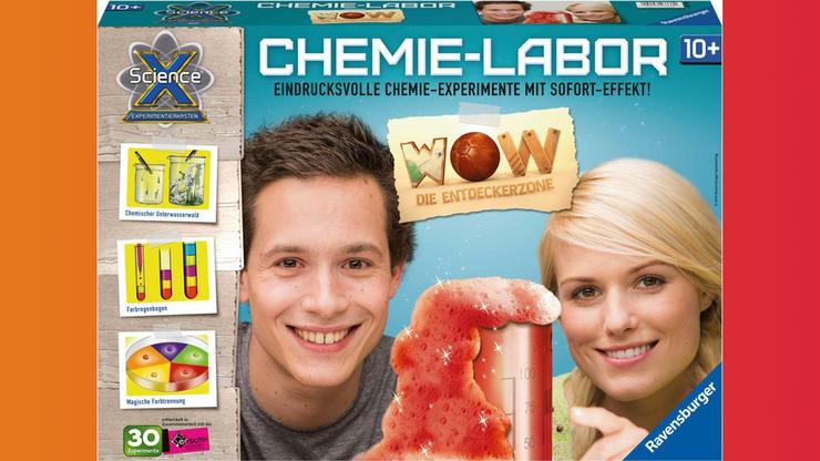 Wunsch-Nr. 24, Levin, 8 Jahre, Ravensburger SX Chemielabor, z.B. bei Digitec/Galaxus,  CHF 44.30
