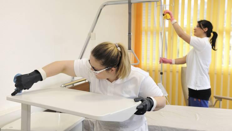 Im Ausbildungszentrum sollen die Reinigungskräfte auf den neusten Stand gebracht werden