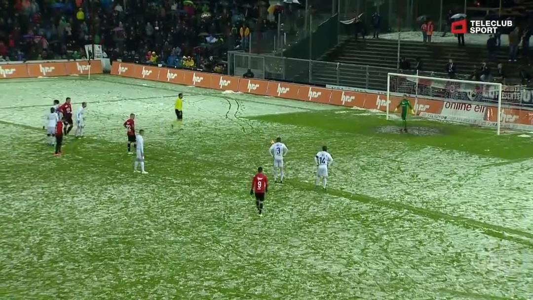 Challenge League, 2018/19, 32. Runde, FC Aarau – FC Lausanne-Sport, 69. Minute: Tor von Markus Neumayr.