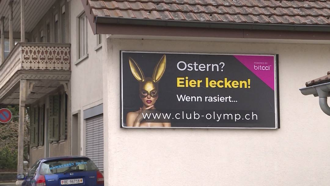 Schüpfen: Werbeplakat eines Sex-Clubs erregt Gemüter