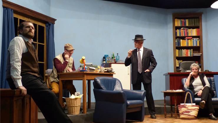Spannend, raffiniert, anspruchsvoll: Der Theaterverein Spielleute Hottwil zeigt das Kriminalstück «Der Haken».