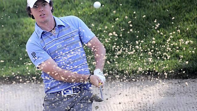 Rory McIlroy zeigt auch in den Sandbunkern Golf vom Feinsten