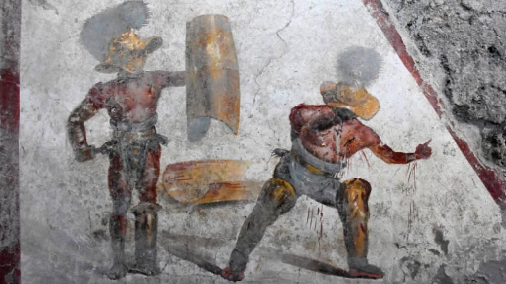Detailreiches Fresko eines Gladiatorenkampfes entdeckt