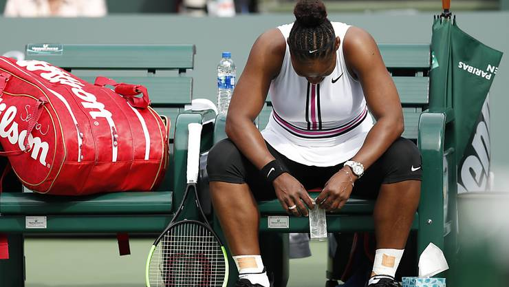 Serena Williams musste in Indian Wells aufgeben
