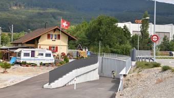 Noch nicht vollständig fertiggestellt, aber zugänglich und nutzbar für Fussgänger/-innen und Velofahrer/-innen: die SBB-Unterführung in der Rickenbacher Mühlegasse. Bruno Kissling