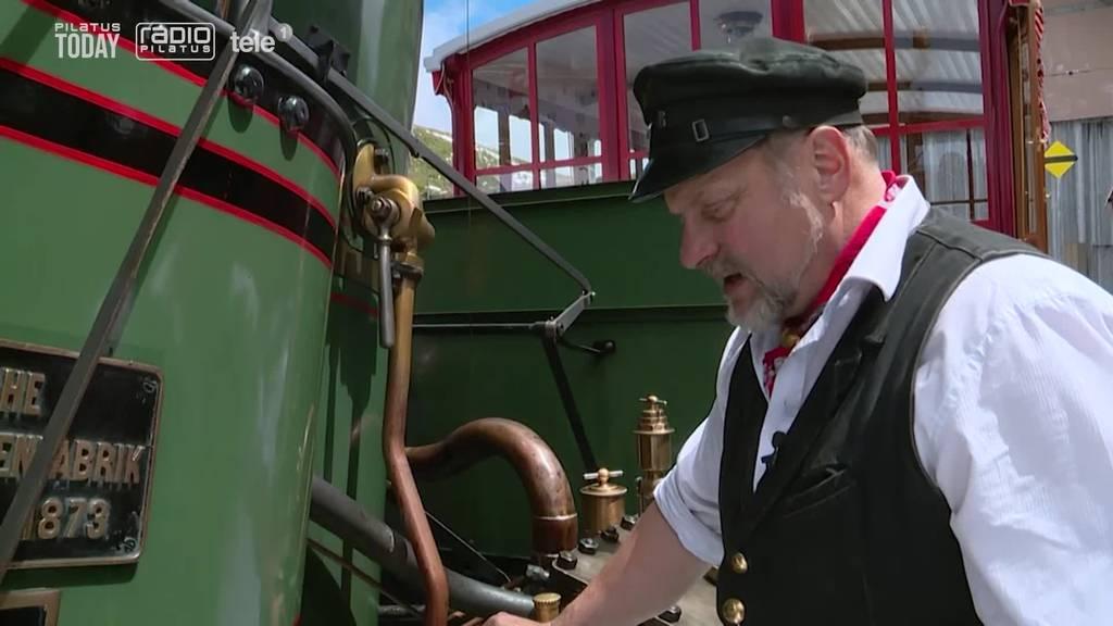Historische Bahnparade zu Ehren der Vitznau-Rigibahn