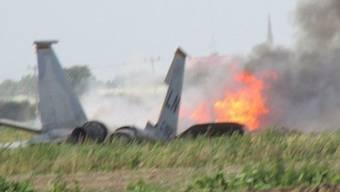 Der abgestürzte Jet in England.