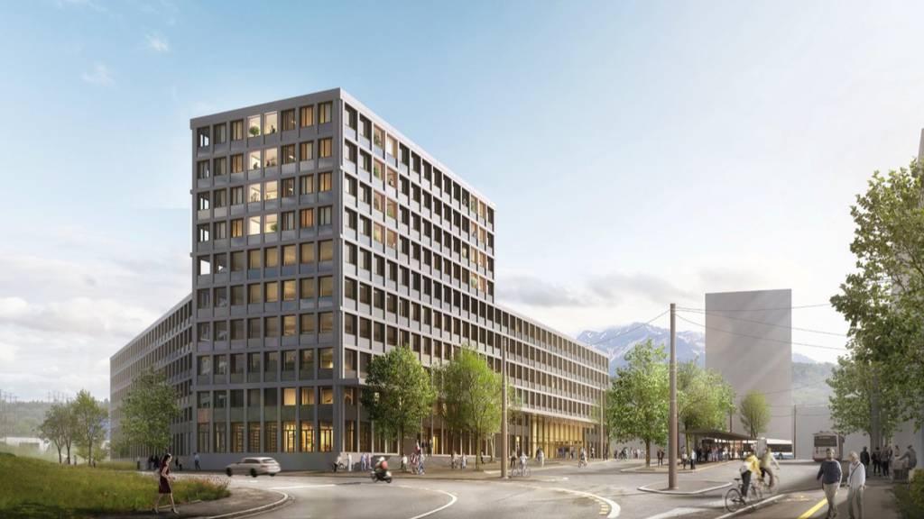 Kanton Luzern stellt neues Verwaltungsgebäude am Seetalplatz vor