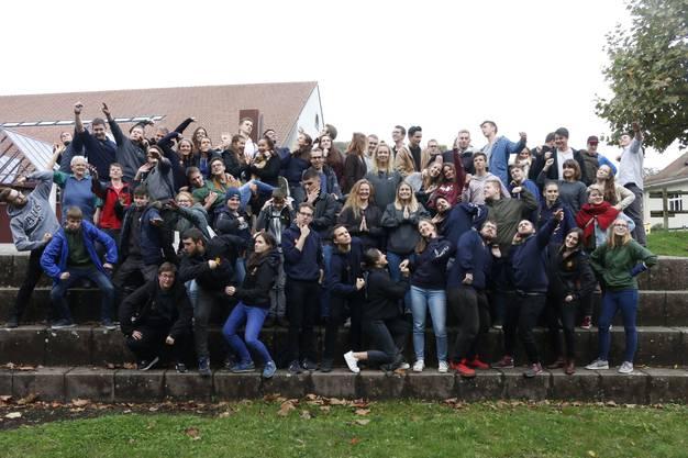 Gruppenfoto – Die rund 70 Teilnehmenden hatten sichtlich Spass