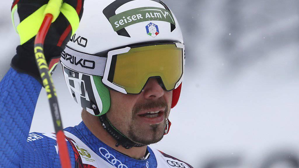 Peter Fill fuhr im ersten Training für die Weltcup-Abfahrt am Donnerstag Bestzeit