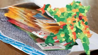 Am meisten in den Finanzausgleich zahlt im kommenden Jahr Baden.