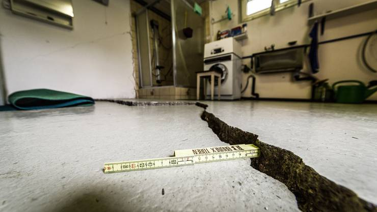 Am Schaden gibt es keine Zweifel: So sah die Waschküche im April aus. Das Haus wurde inzwischen geräumt.