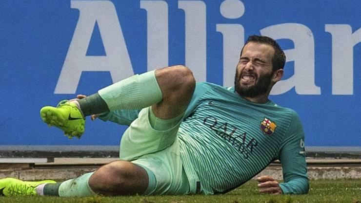 Muss lange pausieren: Barcelonas Aleix Vidal