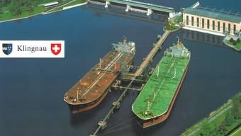 Hafen statt Naturparadies? Diese az-Fotomontage aus den 1990er-Jahren zeigt den Klingnauer Stausee.